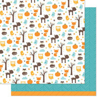 Lawn Fawn - 12 x 12 Double Sided Paper - Into the Woods Remix - Maple Remix