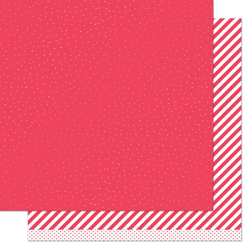 Lawn Fawn - 12 x 12 Double Sided Paper - Let it Shine - Red Sprinkle 'n Shine