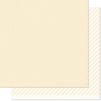 Lawn Fawn - 12 x 12 Double Sided Paper - Let it Shine - Cream Sprinkle 'n Shine
