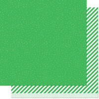 Lawn Fawn - 12 x 12 Double Sided Paper - Let it Shine - Green Sprinkle