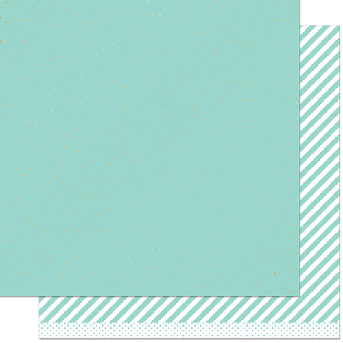 Lawn Fawn - 12 x 12 Double Sided Paper - Let it Shine - Mint Sprinkle 'n Shine