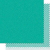 Lawn Fawn - 12 x 12 Double Sided Paper - Let it Shine - Teal Sprinkle