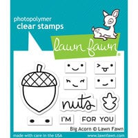 Lawn Fawn - Clear photopolymer Stamps - Big Acorn