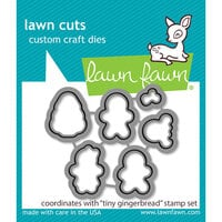 Lawn Fawn - Lawn Cuts - Dies - Tiny Gingerbread