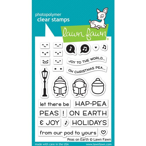 Lawn Fawn - Clear Photopolymer Stamps - Peas on Earth
