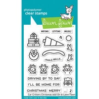 Lawn Fawn - Clear Photopolymer Stamps - Car Critters - Christmas Add-On