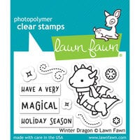 Lawn Fawn - Clear Photopolymer Stamps - Winter Dragon
