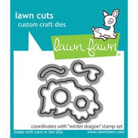 Lawn Fawn - Lawn Cuts - Dies - Winter Dragon