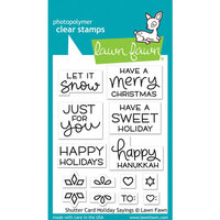 Lawn Fawn - Clear Photopolymer Stamps - Shutter Card - Holiday Sayings
