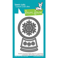 Lawn Fawn - Lawn Cuts - Dies - Shutter Card - Snow Globe Add-On