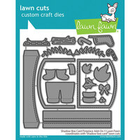 Lawn Fawn - Lawn Cuts - Dies - Shadow Box Card - Fireplace Add-On
