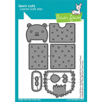 Lawn Fawn - Lawn Cuts - Dies - Tiny Gift Box - Hedgehog Add-On