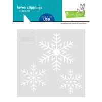 Lawn Fawn - Stencil - Snowflake Trio