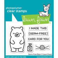 Lawn Fawn - Clear Photopolymer Stamps - Germ-Free Bear