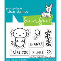 Lawn Fawn - Clear Photopolymer Stamps - I Like You A Lotl