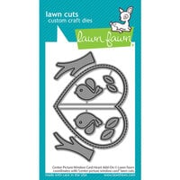 Lawn Fawn - Dies - Center Picture Window Card Heart Add-On