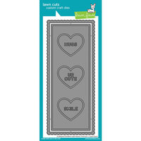 Lawn Fawn - Dies - Scalloped Slimline with Hearts Portrait