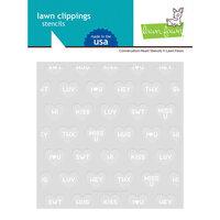 Lawn Fawn - Stencil - Conversation Heart