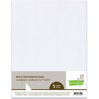 Lawn Fawn - 8.5 x 11 - Woodgrain Cardstock - White