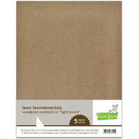 Lawn Fawn - 8.5 x 11 - Woodgrain Cardstock - Light Brown