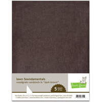Lawn Fawn - 8.5 x 11 - Woodgrain Cardstock - Dark Brown
