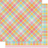 Lawn Fawn - 12 x 12 Double Sided Paper - Perfectly Plaid Remix - Nadia Remix