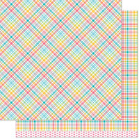 Lawn Fawn - 12 x 12 Double Sided Paper - Perfectly Plaid Remix - Jessica Remix