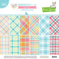 Lawn Fawn - 12 x 12 Double Sided Paper - Perfectly Plaid Remix - 12 x 12 Collection Pack