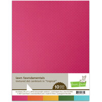 Lawn Fawn - 8.5 x 11 Cardstock - Textured Dot - Tropical