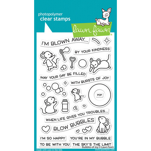 Lawn Fawn - Clear Photopolymer Stamps - Bubbles of Joy