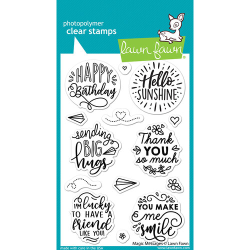 Lawn Fawn - Clear Photopolymer Stamps - Magic Messages