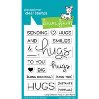 Lawn Fawn - Clear Photopolymer Stamps - Long Distance Hugs