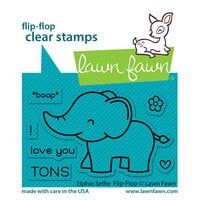 Lawn Fawn - Clear Photopolymer Stamps - Flip-Flop - Elphie Selfie