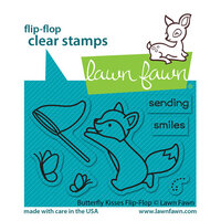 Lawn Fawn - Clear Photopolymer Stamps - Butterfly Kisses Flip-Flop