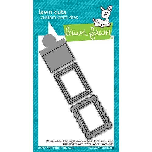 Lawn Fawn - Lawn Cuts - Dies - Reveal Wheel Rectangle Window Add-On