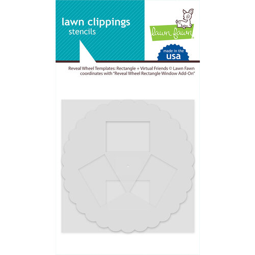 Lawn Fawn - Stencils - Reveal Wheel Template - Rectangle and Virtual Friends