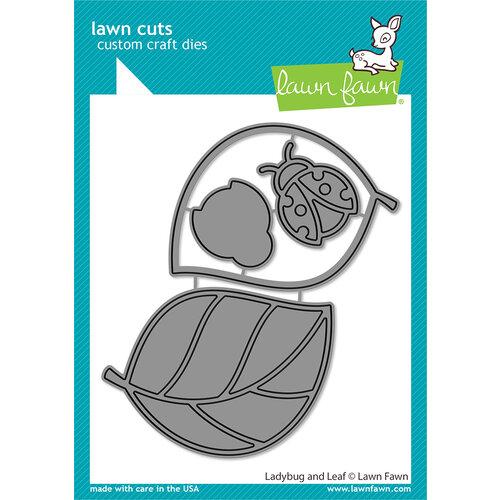 Lawn Fawn - Lawn Cuts - Dies - Ladybug and Leaf