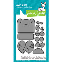 Lawn Fawn - Dies - Tiny Gift Box - Frog Add-On