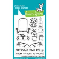 Lawn Fawn - Clear Photopolymer Stamps - Virtual Friends Add-on