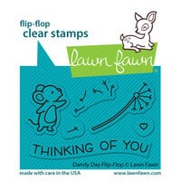 Lawn Fawn - Clear Photopolymer Stamps - Flip-Flop - Dandy Day