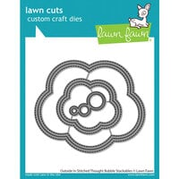Lawn Fawn - Dies - Outside In Stitched Thought Bubble Stackables