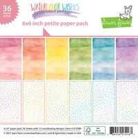 Lawn Fawn - Watercolor Wishes Rainbow Collection - 6 x 6 Petite Paper Pack