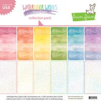 Lawn Fawn - Watercolor Wishes Rainbow Collection - 12 x 12 Collection Pack