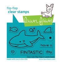 Lawn Fawn - Clear Photopolymer Stamps - Flip-Flop - Duh-nuh
