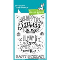Lawn Fawn - Clear Photopolymer Stamps - Giant Birthday Messages
