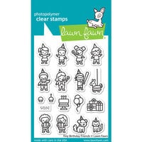 Lawn Fawn - Clear Photopolymer Stamps - Tiny Birthday Friends