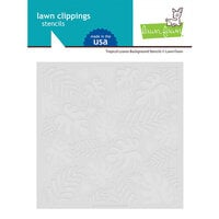 Lawn Fawn - Stencils - Tropical Leaves Background