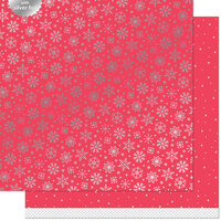Lawn Fawn - Let It Shine Snowflakes Collection - 12 x 12 Double Sided Paper with Silver Foil Accents - Shiver