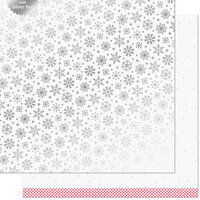 Lawn Fawn - Let It Shine Snowflakes Collection - 12 x 12 Double Sided Paper with Silver Foil Accents - Polar