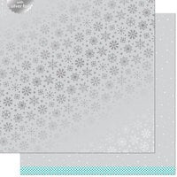 Lawn Fawn - Let It Shine Snowflakes Collection - 12 x 12 Double Sided Paper with Silver Foil Accents - Brrr